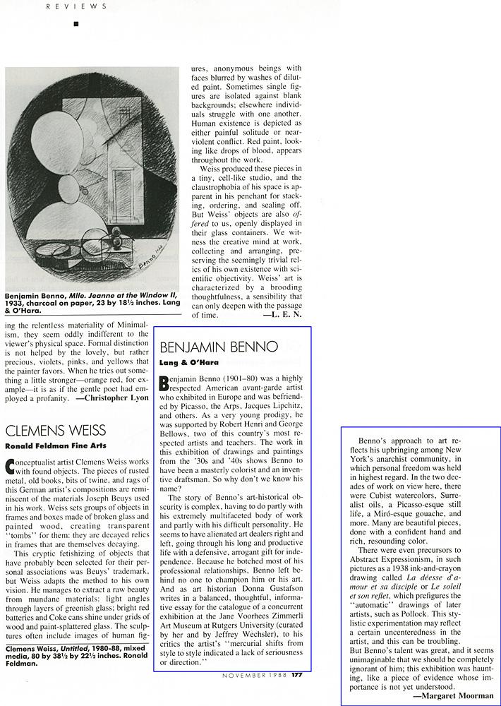 Art News, November, 1988