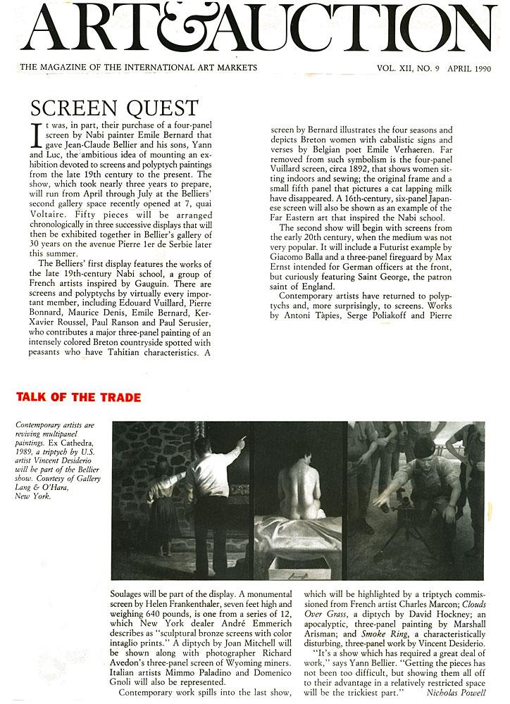 Art & Auction, April, 1990