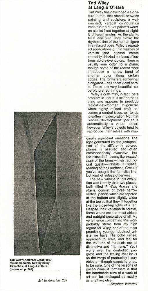 Art in America, 1989