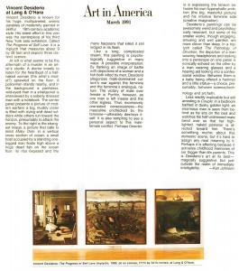 Art in America, March, 1991