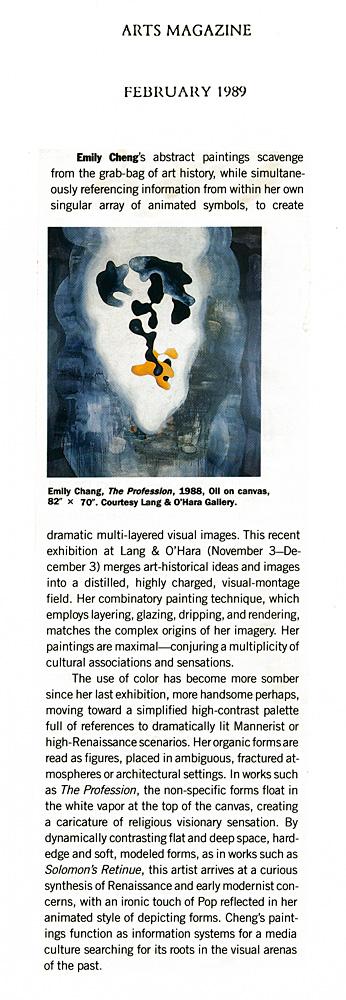 Arts Magazine, February, 1989