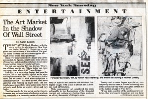 New York Newsday, November, 1987