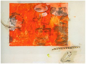 Robert Rauschenberg Orange Body Number 213