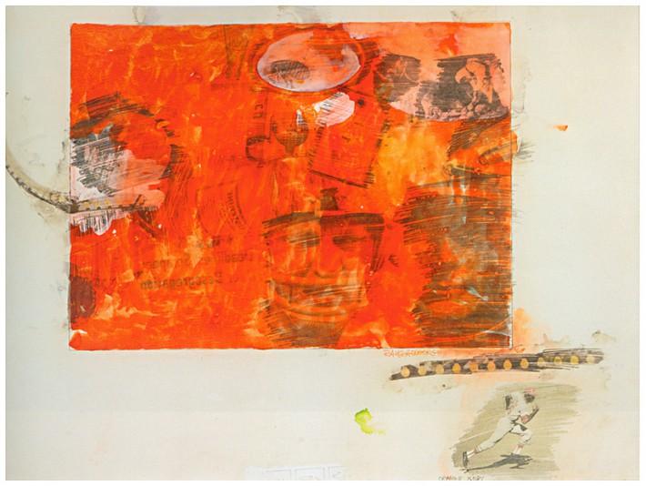 Robert Rauschenberg: Orange Body Number 213
